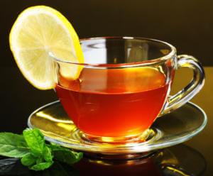 Чай с лимоном при головной боли от кальяна