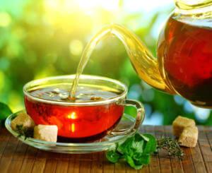 Черный чай без сахар при алкогольном опьянении
