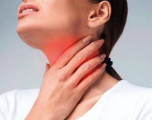 Боль в горле при передозировке Хлоргексидином