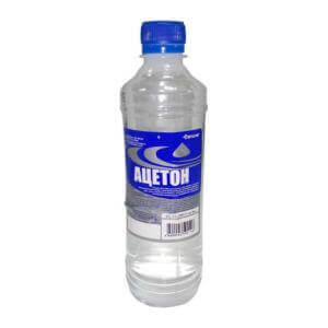 Ацетон в составе растворителя