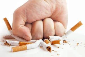 Отказ от курения при приеме Полисорба для очищения