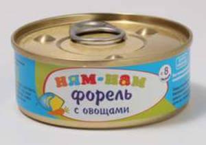 Детские рыбные консервы с овощами