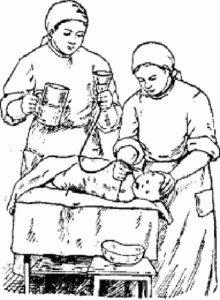 Промывание желудка ребенку зондом